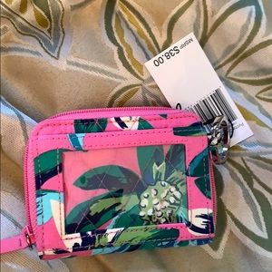 Vera Bradley wallet key ring